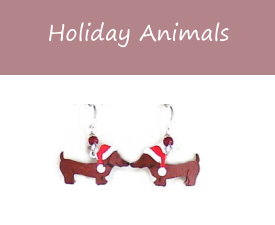 Dachshund Santa Earrings from PJ Publications.