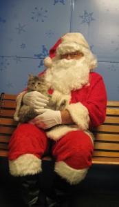 Kaly with Santa.