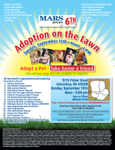 MARS Adoption Event Flyer